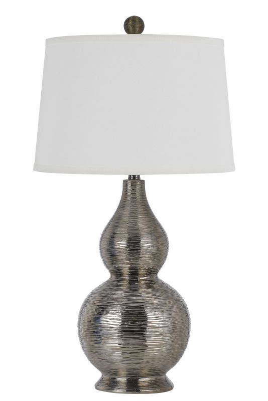 Cal Lighting BO-2620TB Contour 1 Light Table Lamp Metallic Silver Sale $245.40 ITEM: bci2620672 ID#:BO-2620TB UPC: 20193157367 :