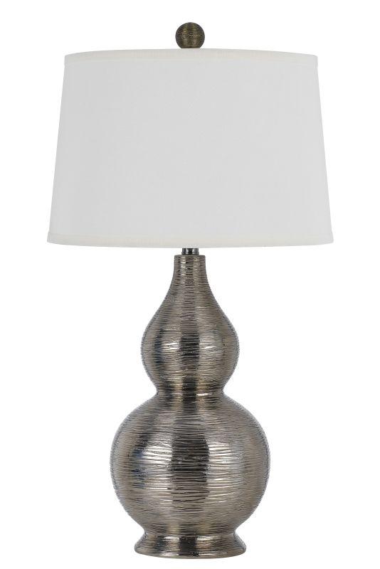 Cal Lighting BO-2620TB Contour 1 Light Table Lamp Metallic Silver Sale $245.40 ITEM: bci2620672 ID#:BO-2620TB UPC: 20193157367 :