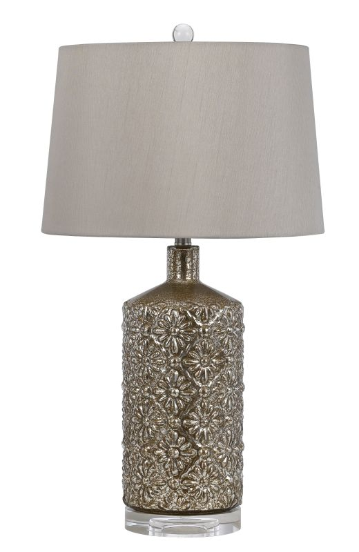 Cal Lighting BO-2621TB 1 Light Table Lamp Distressed Mirror Lamps