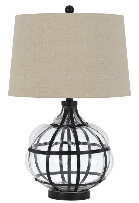 Cal Lighting BO-2624TB Blob 1 Light Table Lamp Iron / Glass Lamps Sale $291.00 ITEM: bci2620676 ID#:BO-2624TB UPC: 20193157404 :