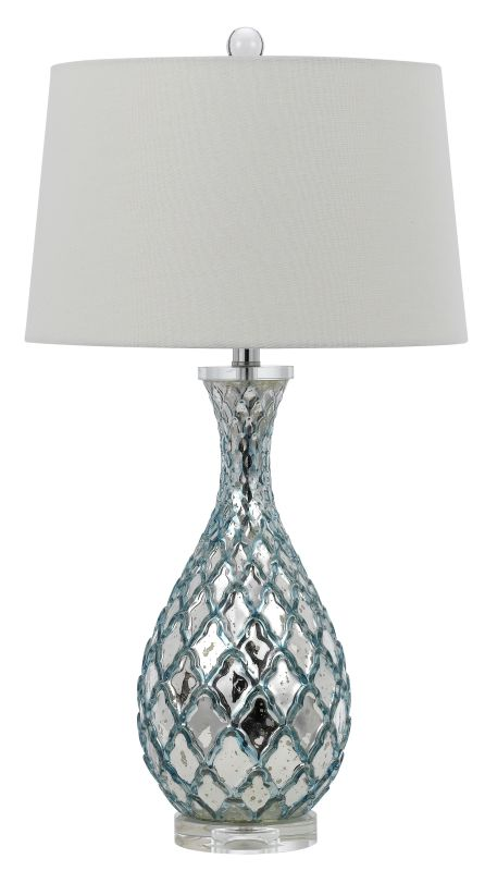 Cal Lighting BO-2625TB Piraire 1 Light Table Lamp Aqua Blue Lamps Sale $250.50 ITEM: bci2620677 ID#:BO-2625TB UPC: 20193157411 :