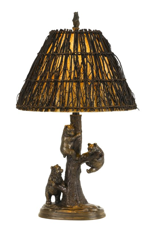 "Cal Lighting BO-2663TB Bear Single Light 29.5"" Tall Novelty Table Lamp"