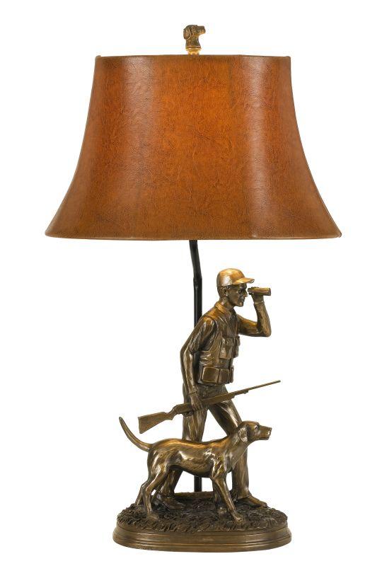"Cal Lighting BO-2665TB Hunter Single Light 29"" Tall Novelty Table Lamp"