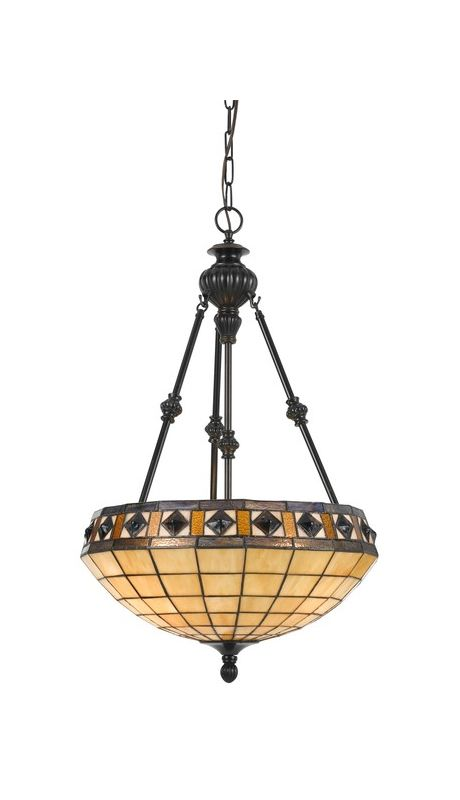 Cal Lighting FX-2332/1P Tiffany 3 Light Bowl Shaped Pendant Antique Sale $503.50 ITEM: bci2388311 ID#:FX-2332/1P UPC: 20193133132 :
