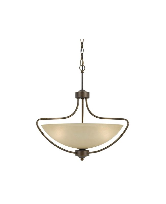Cal Lighting FX-3529/1P Romano 3 Light Bowl Shaped Pendant Rust Indoor Sale $263.10 ITEM: bci2388278 ID#:FX-3529/1P UPC: 20193131107 :