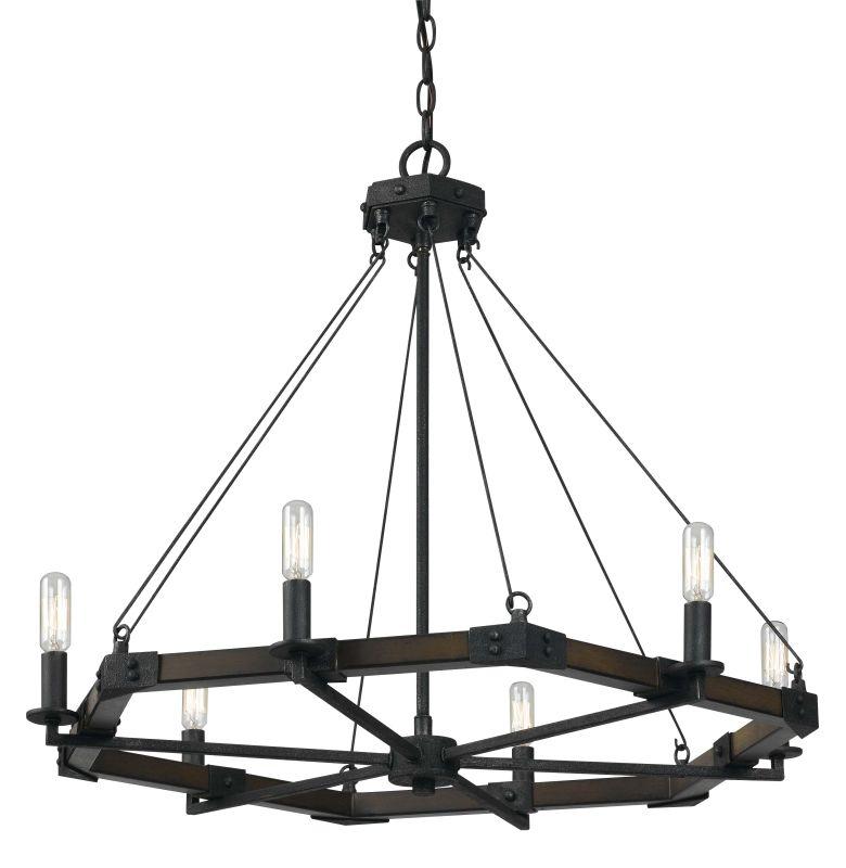 Cal Lighting FX-3533/6 6 Light Black Smith Metal / Resin Chandelier