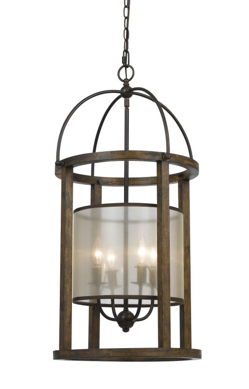 Cal Lighting FX-3536/4L Mission 4 Light Chandelier with Organza Shade Sale $580.60 ITEM: bci2559153 ID#:FX-3536/4L UPC: 20193156315 :