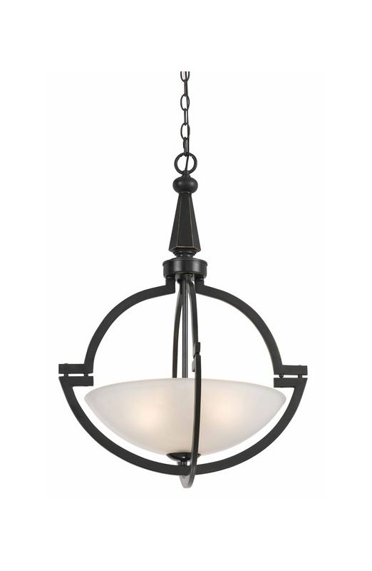 Cal Lighting FX-3552/1P Beverly 3 Light Bowl Shaped Pendant Oil Rubbed Sale $327.60 ITEM: bci2388300 ID#:FX-3552/1P UPC: 20193141335 :