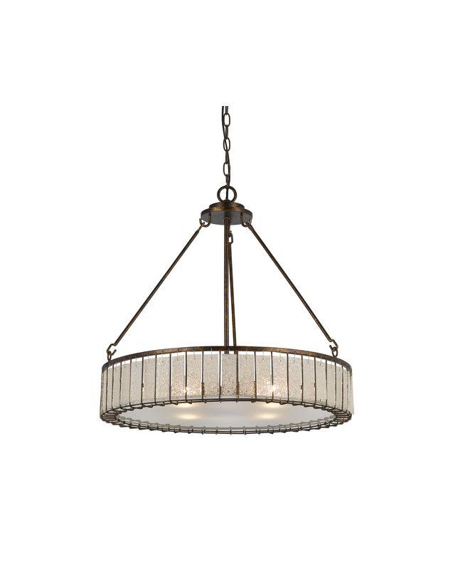 Cal Lighting FX-3556/4 Ferrara 4 Light 1 Tier Drum Chandelier Coppery