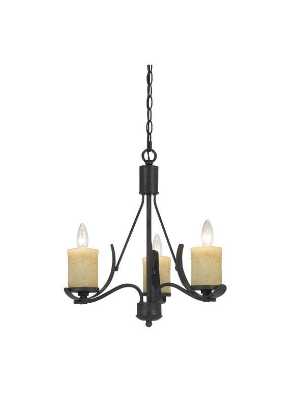 Cal Lighting FX-3561/3 Morelis 3 Light 1 Tier Chandelier Black Smith Sale $326.40 ITEM: bci2388317 ID#:FX-3561/3 UPC: 20193152126 :