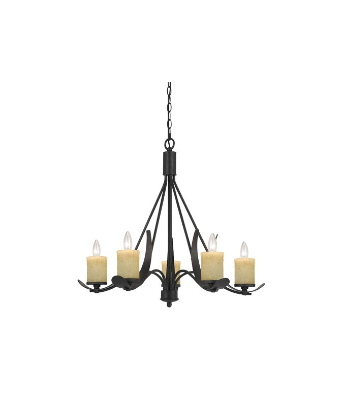 Cal Lighting FX-3561/5 Morelis 5 Light 1 Tier Candle Style Chandelier
