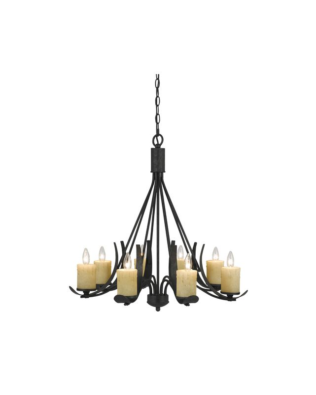 Cal Lighting FX-3561/8 Morelis 8 Light 1 Tier Candle Style Chandelier