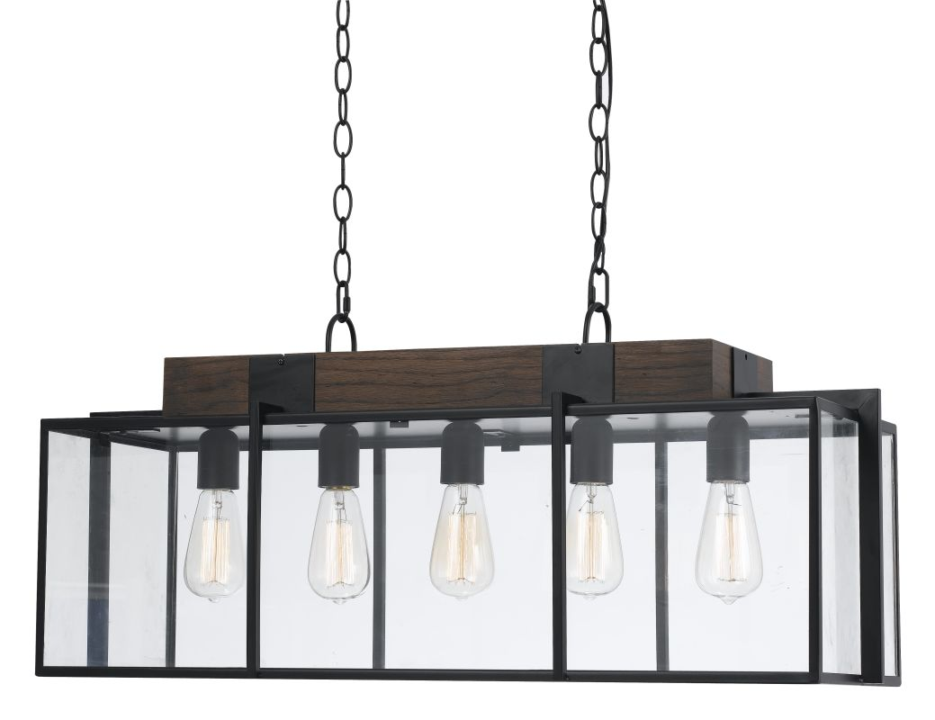 Cal Lighting FX-3582-5 Antonio 5 Light Chandelier Dark Bronze / Wood Sale $528.80 ITEM: bci2620690 ID#:FX-3582-5 UPC: 20193157572 :