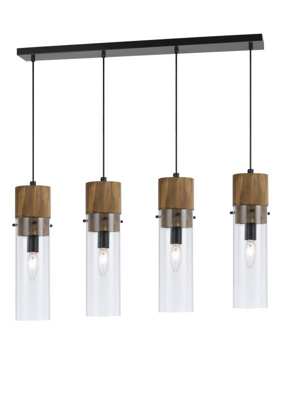 Cal Lighting FX-3583-4 Spheroid 4 Light Pendant Wood / Dark Bronze Sale $460.50 ITEM: bci2620693 ID#:FX-3583-4 UPC: 20193157602 :