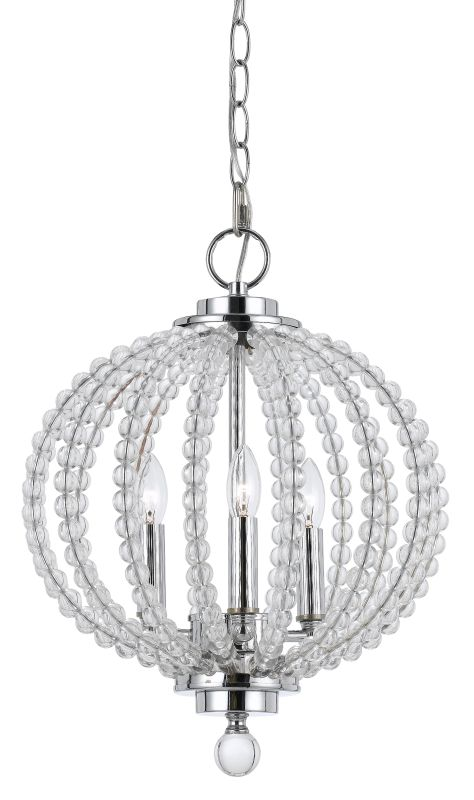 Cal Lighting FX-3598-3 Olivia 3 Light Chandelier Chrome / Glass Indoor Sale $313.70 ITEM: bci2620716 ID#:FX-3598-3 UPC: 20193157831 :