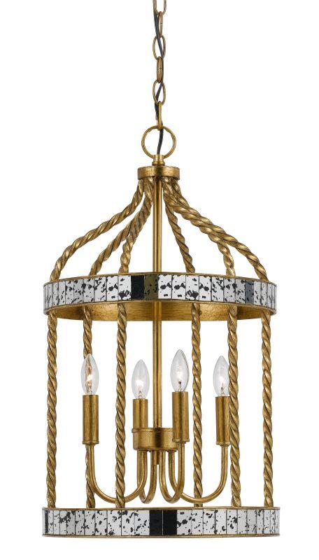 Cal Lighting FX-3599-4 Glenwood 4 Light Chandelier French Gold / Sale $341.60 ITEM: bci2620718 ID#:FX-3599-4 UPC: 20193157855 :