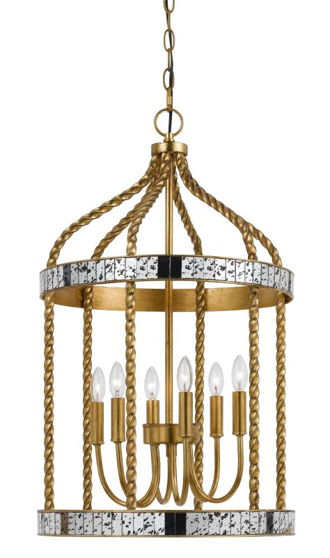 Cal Lighting FX-3599-6 Glenwood 6 Light Chandelier French Gold / Sale $450.30 ITEM: bci2620719 ID#:FX-3599-6 UPC: 20193157862 :