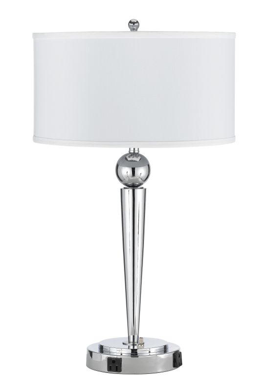 Cal Lighting LA-2007DK-1 Messina 2 Light Table Lamps Chrome Lamps Sale $199.90 ITEM: bci2427262 ID#:LA-2007DK-1CH UPC: 20193065358 :