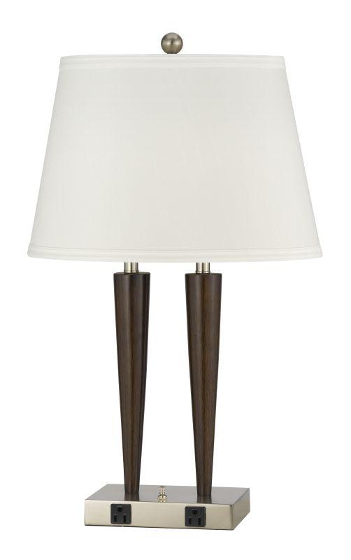 Cal Lighting LA-2025DK-2R Murcia 2 Light Table Lamps Brushed Steel /