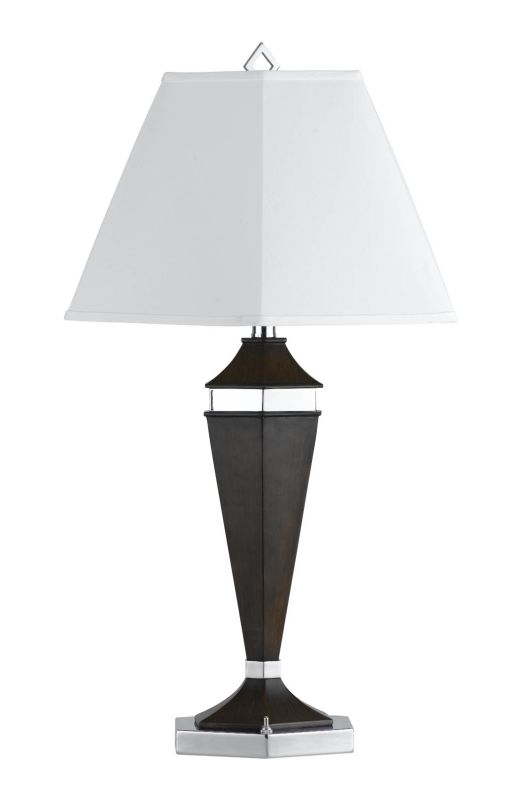 Cal Lighting LA-694TB-1R Hotel 1 Light Table Lamps Brushed Steel /