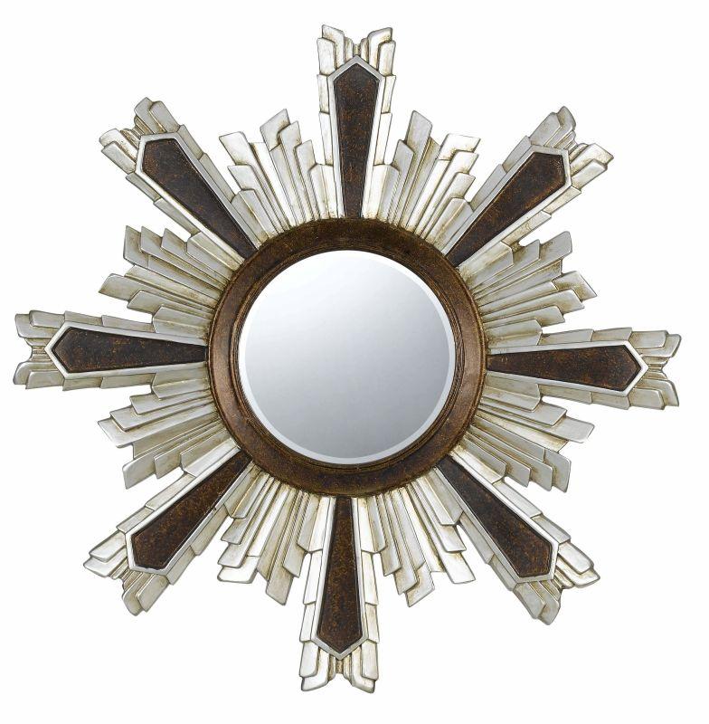 Cal Lighting WA-2168MIR Chafe Circle Beveled Mirror Walnut / Silver Sale $394.70 ITEM: bci2427330 ID#:WA-2168MIR UPC: 20193131329 :