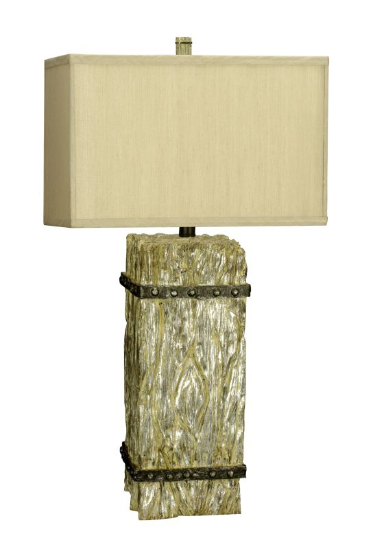 "Cal Lighting BO-2016 150 Watt 30.75"" ""Timber Post"" Resin Table Lamp"