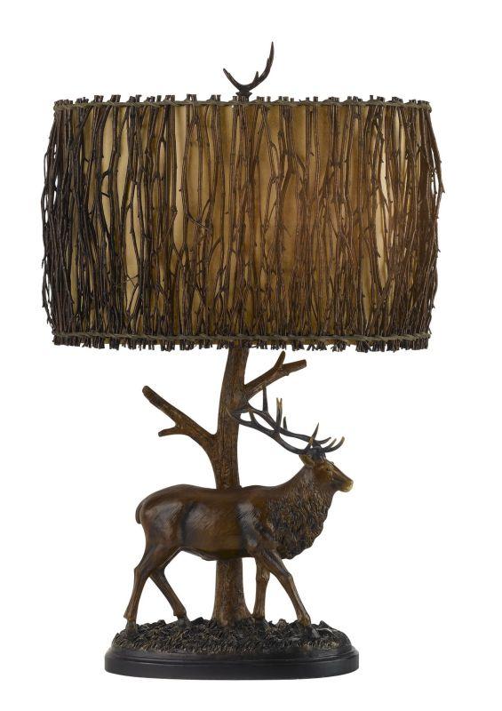 Cal Lighting BO-2148 Country / Rustic Single Light 150 Watt Elk Resin