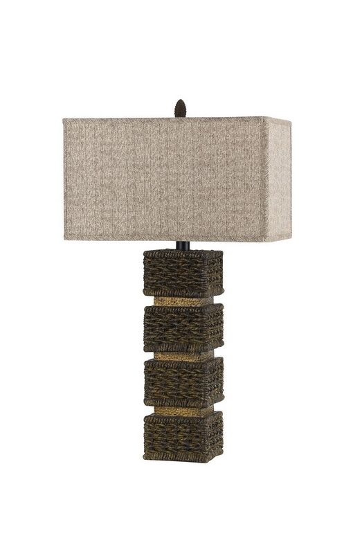 Cal Lighting BO-2169 Single Light 150 Watt Slatina Resin Wicker Table