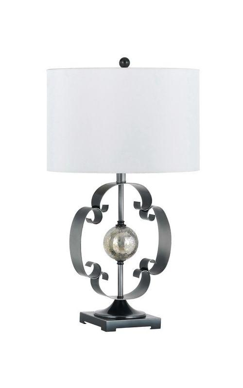 Cal Lighting BO-2178TB Single Light 150 Watt Sondrio Iron Table Lamp