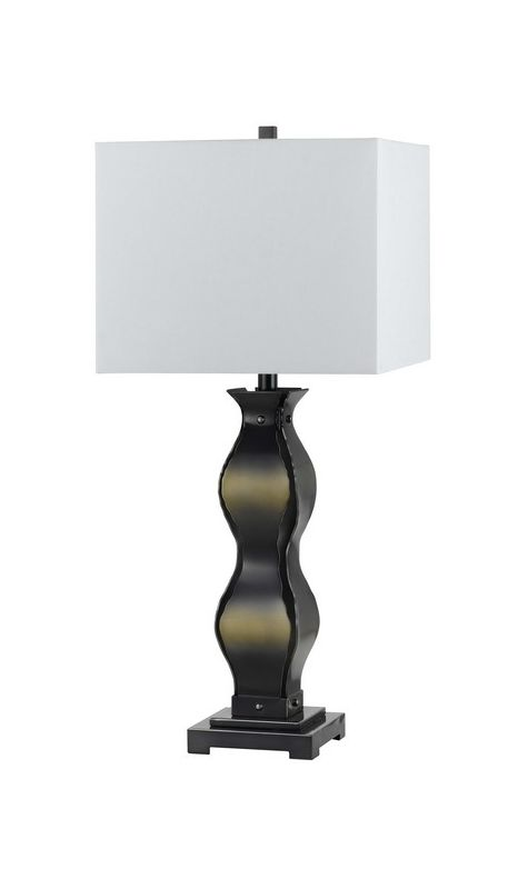 Cal Lighting BO-2179 Single Light 150 Watt Varallo Iron Table Lamp
