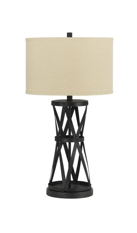 Cal Lighting BO-2182 Single Light 150 Watt Passo Iron Table Lamp Dark