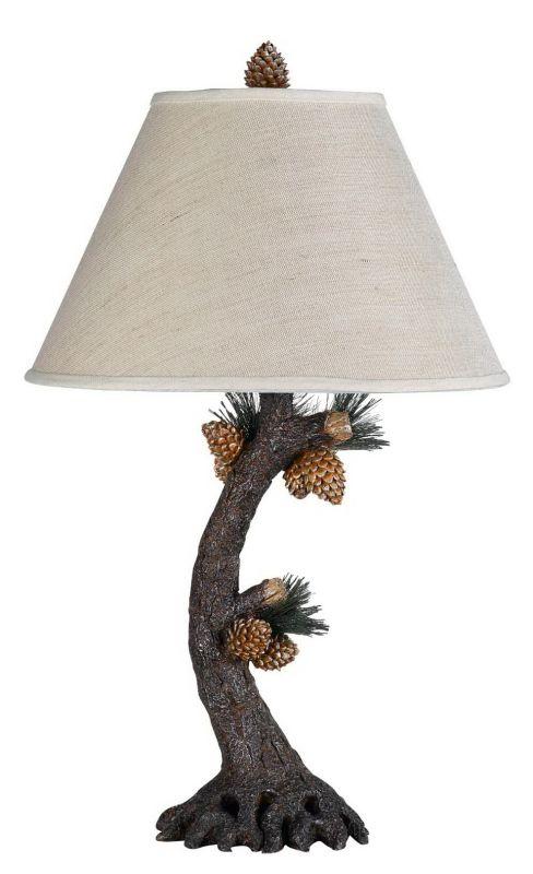 """Cal Lighting BO-261 150 Watt 28"""" Country / Rustic Resin Table Lamp"""