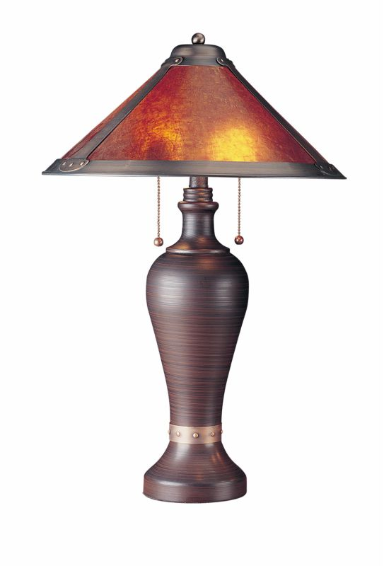 "Cal Lighting BO-463 80 Watt 26"" Craftsman / Mission Table Lamp with"