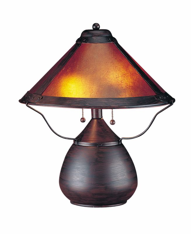 "Cal Lighting BO-464 80 Watt 17"" Craftsman / Mission Table Lamp with"