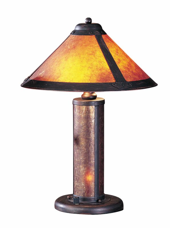 "Cal Lighting BO-466 80 Watt 20"" Craftsman / Mission Table Lamp with"