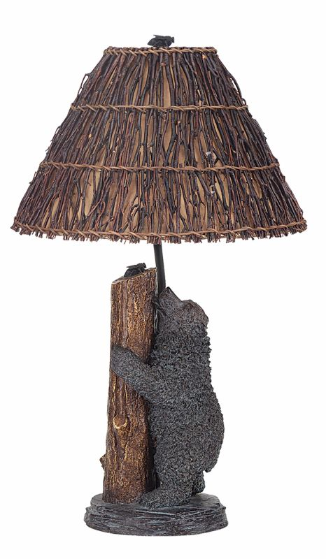 "Cal Lighting BO-507 150 Watt 29"" Country / Rustic Resin Table Lamp"