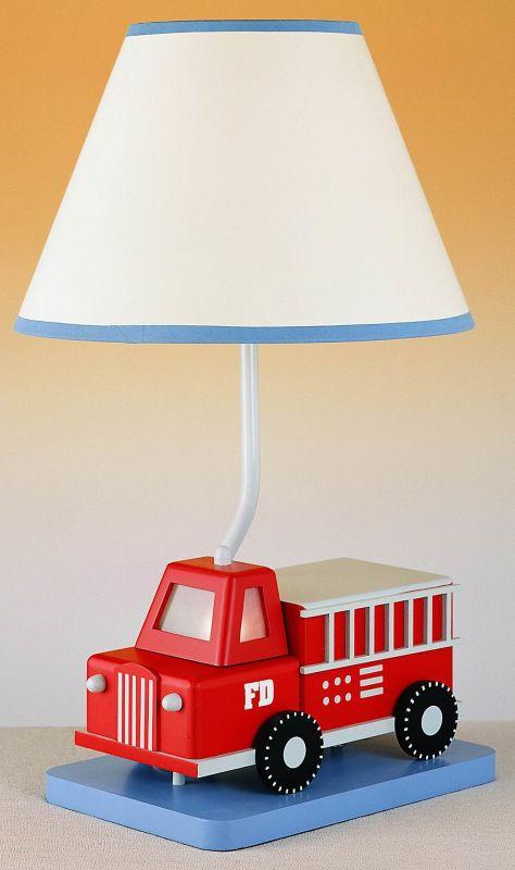 "Cal Lighting BO-5666 67 Watt 21"" Kids / Youth Wood Firetruck Table"