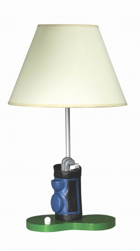 "Cal Lighting BO-5673 60 Watt 20"" Kids / Youth Wood Golf Table Lamp"