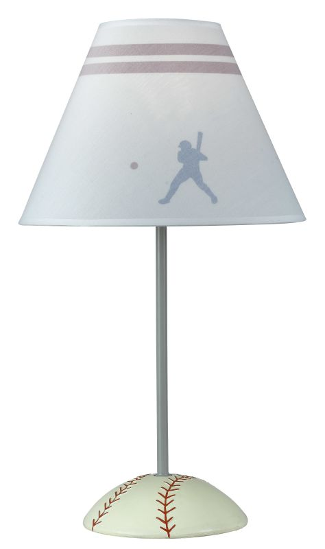 "Cal Lighting BO-5683 60 Watt 21"" Kids / Youth Resin/Metal Baseball"
