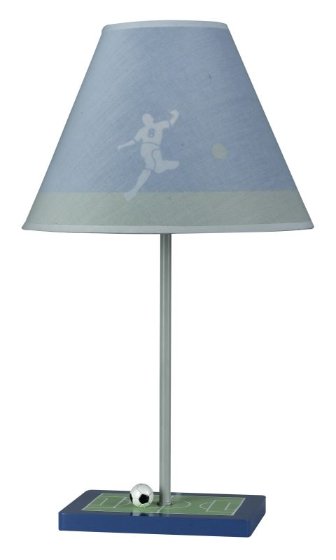 "Cal Lighting BO-5684 60 Watt 21"" Kids / Youth Wood Soccer Table Lamp"