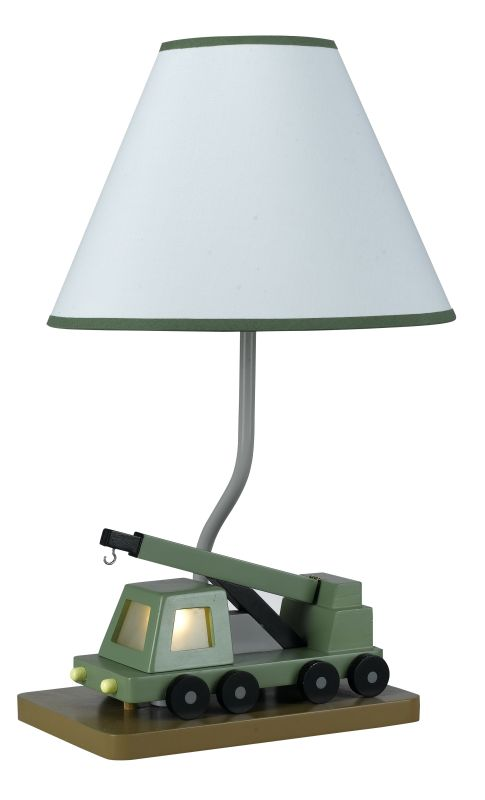 "Cal Lighting BO-5685 67 Watt 21"" Kids / Youth Wood Crane Table Lamp"
