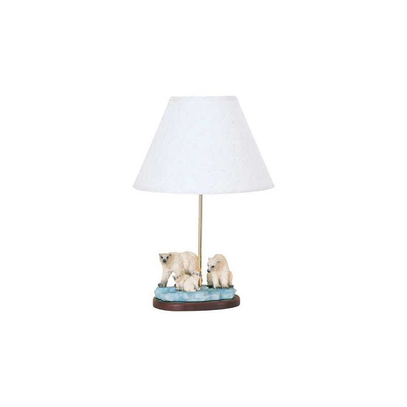 "Cal Lighting BO-5702 60 Watt 21"" Kids / Youth Resin Polar Bear Table"