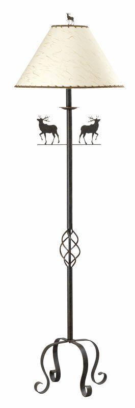 "Cal Lighting BO-667FL 150 Watt 63.5"" Country / Rustic Iron Floor Lamp"