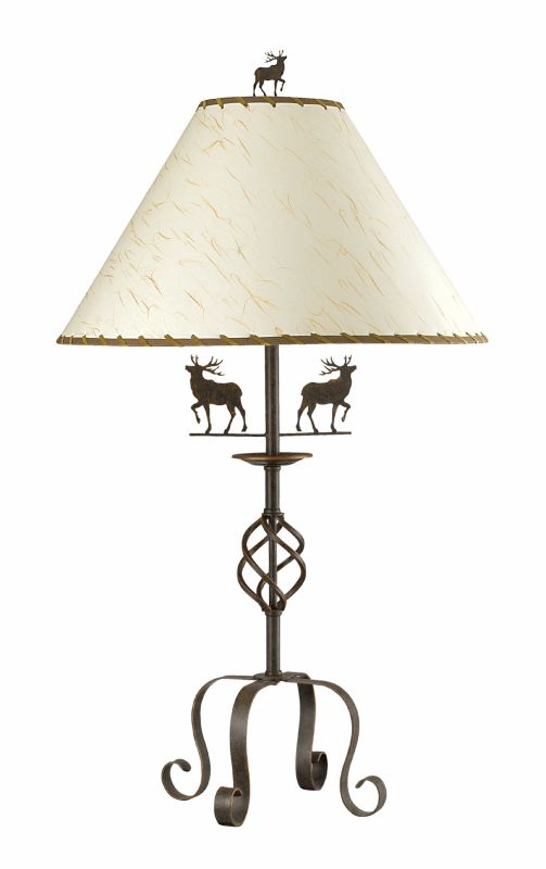 "Cal Lighting BO-667TB 150 Watt 32"" Country / Rustic Iron Table Lamp"