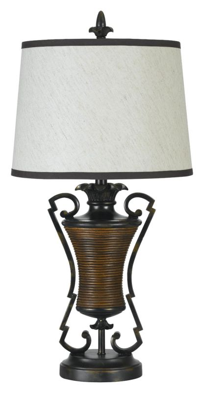 "Cal Lighting BO-685 150 Watt 31"" Tuscan Resin/Metal Table Lamp with"