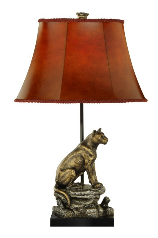 "Cal Lighting BO-846 100 Watt 26.25"" Country / Rustic Resin Table Lamp"