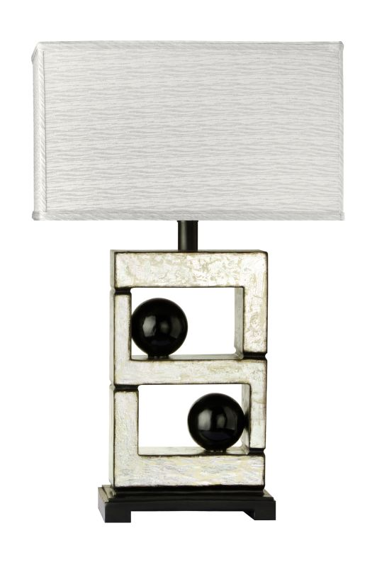 "Cal Lighting BO-851 150 Watt 29"" Retro / Art Deco Resin Table Lamp"