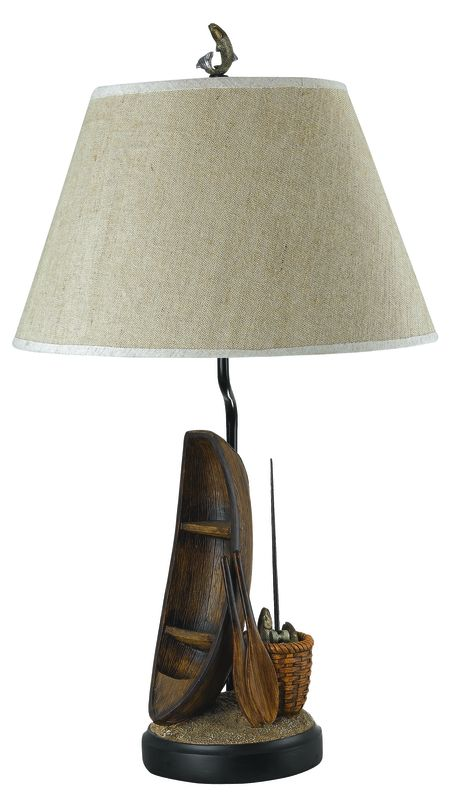 "Cal Lighting BO-935 150 Watt 30.5"" Country / Rustic Resin Table Lamp"