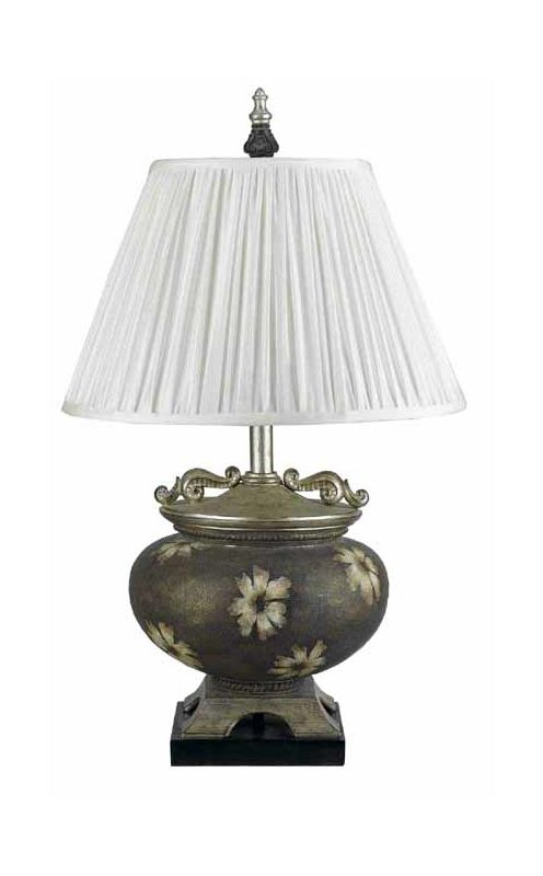 "Cal Lighting BO-944 150 Watt 28"" Asian Resin Table Lamp with 3-Way"