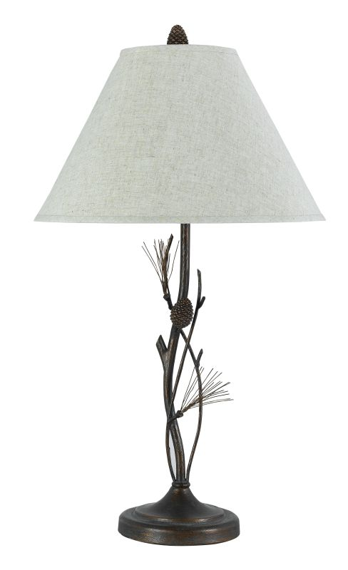 """Cal Lighting BO-961TB 150 Watt 32"""" Country / Rustic Metal Table Lamp"""